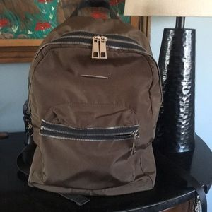 No name nylon and faux leather med sized backpack